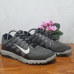 Nike Air Range WP ll Golf Shoe Sz 10 Sliver/Black